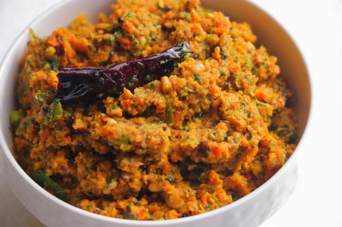 Carrot Fenugreek Leaves Chutney | Carrot Methi Chutney |  Carrot Chutney | Carrot Pachadi