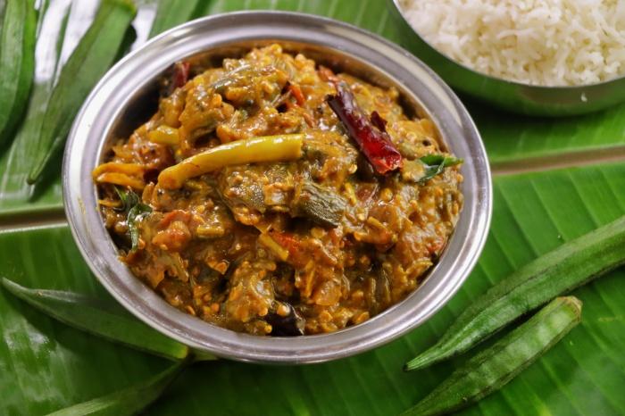 Rayalaseema Special Bendkaya Bajji   Okra Curry   Bendakaya Pullagura   Vendakkai Recipe