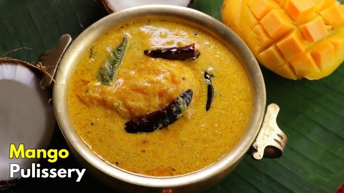Mango Kadhli | Mambazha Pulisserry Recipe | Mambalam Pulisseri | Mango Buttermilk Stew