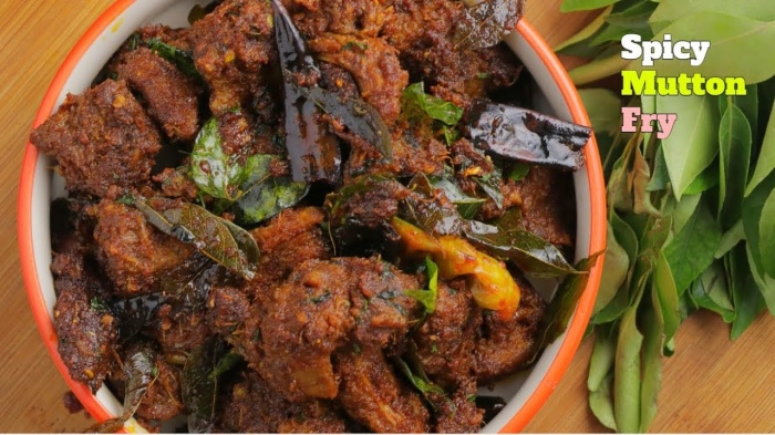 Spicy Mutton Fry | Andhra Style Spicy Mutton Fry | Rayalaseema Style Mutton Fry | How to make Spicy Mutton Fry