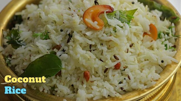 Coconut Rice | How to make Coconut Rice | Thengai Sadam | Nariyal Chawal | Kobbari Annam