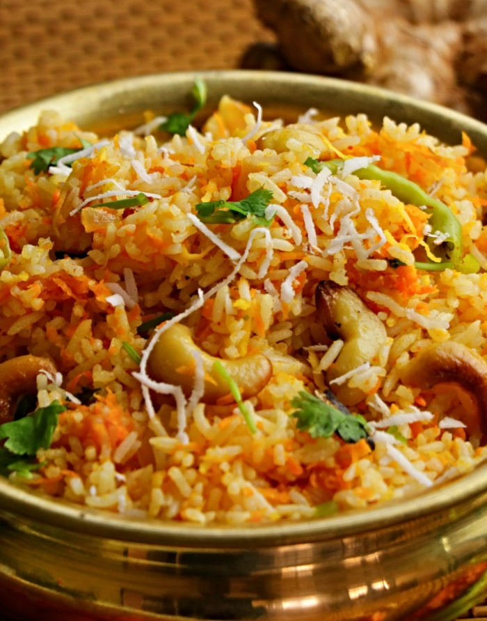 Carrot Rice | Easy Lunch Box recipe in 5 mins | How to make Carrot Rice