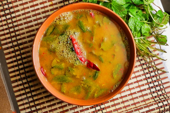 Mint Rasam | Pudina Rasam | Pudina Rasam in Tamilnadu Style