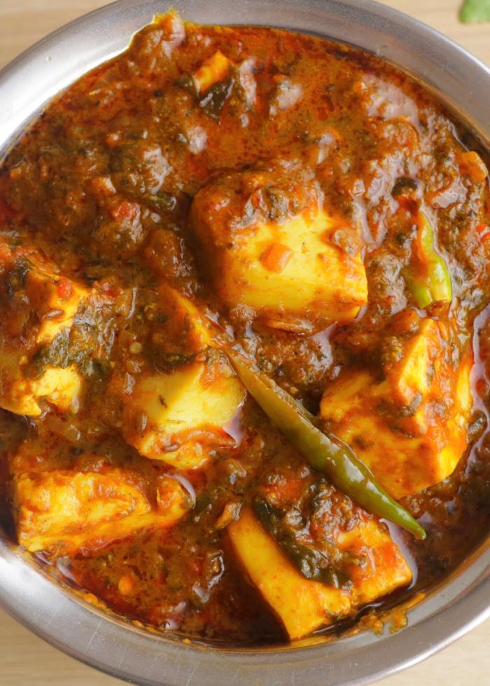 Spicy Gongura Paneer   How to make Gongura Paneer Curry