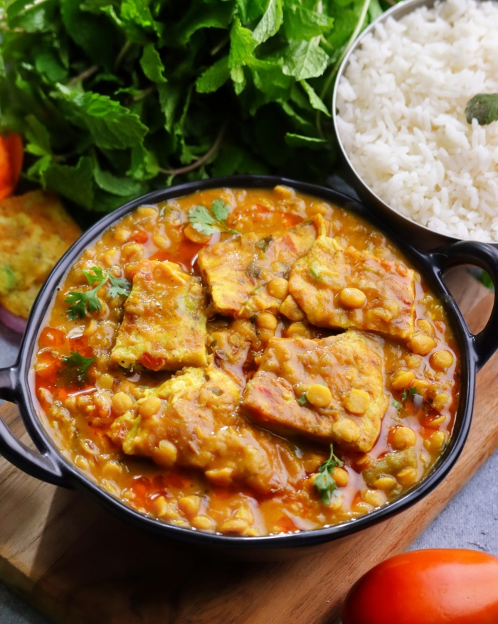 Bengal Gram Omelette Curry | Omelette Chanadal Curry | Omelette Curry